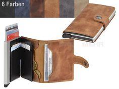 secrid VINTAGE - Leder RFID Miniwallet Minibörse Kartenetui - 6 Farben