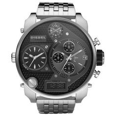 Brand-New-Diesel-Silver-Stainless-Steel-Analog-And-Digital-Mens-Watch-DZ7221