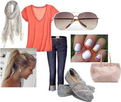 summer casual, created by aliciaarthur on Polyvore