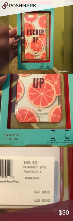 Kate Spade ♠️ Pucker Up iPhone 6/6s Case Kate Spade ♠️ Pucker Up iPhone 6/6s Case. NWT in box. Very cute! kate spade Accessories Phone Cases