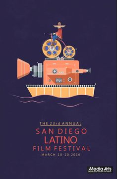 San Diego's Annual San Diego Latino Film Festival Poster Example - Venngage Poster Examples San Diego's Annual San Diego Latino Film Festival Poster Example - Creative Poster Examples, Event Poster Examples, Modern Poster Examples, Poster Examples Poster Cars, Poster Sport, Poster Retro, Gig Poster, Event Poster Design, Poster Design Inspiration, Graphic Design Posters, Poster Designs, Flyer Design