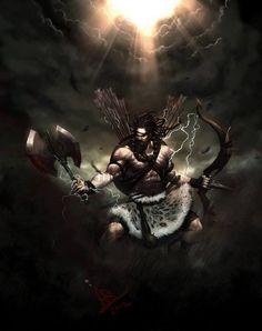 Parashurama - Sixth Avatar of Vishnu, by http://molee.deviantart.com/
