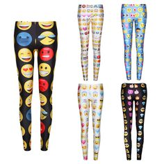 Free Delivery QQ Emoji Women Leggings 3D Print Women Pants Elastic Trousers //Price: $12.89 & FREE Shipping to USA // www.fitnessamerica.store //    #homefitness