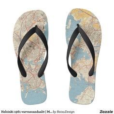 Check out Zazzle's selection of great men's sandals & flip flops. Start shopping now! Flip Flop Sandals, Flip Flops, Helsinki, Flipping, Pairs, Map, Shoes, Zapatos, Shoes Outlet