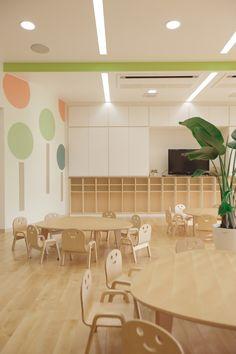 Daycare Design, Classroom Design, School Design, Classroom Decor, Kindergarten Interior, Kindergarten Design, Montessori Kindergarten, Kids Cafe, Kids Library