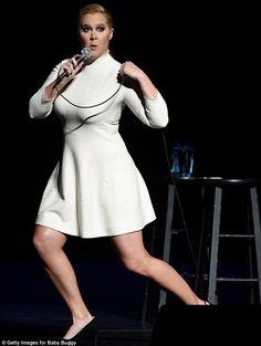 Comedy queen: Amy Schumer took the stage on Monday in New York City during An Evening With Jerry Seinfeld and Amy Schumer to celebrate the 15th anniversary of Baby Buggy