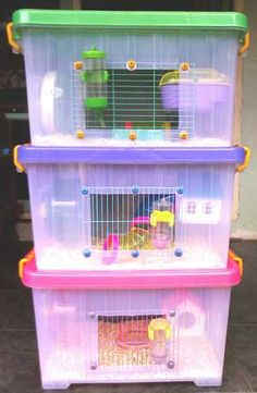 This normally plain and unassuming plastic storage bin carries a deep secret. It wants… - Hamsters Diy Hamster House, Hamster Bin Cage, Gerbil Cages, Hamster Care, Hamster Toys, Syrian Hamster Cages, Budgie Toys, Hamster Stuff, Pets