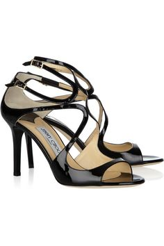 Jimmy Choo Ivette patent-leather sandals