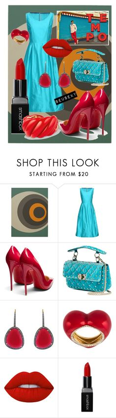 """""""LET'S GO BABY"""" by seus-eky ❤ liked on Polyvore featuring Laviniaturra, Christian Louboutin, Valentino, Christina Debs, Alison Lou, Lime Crime, Smashbox and David Yurman"""