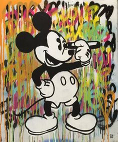 INDO Street Artist  The Thin Line  Original Mixed Media on Board 71cm x 59cm