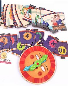 My Time Travel Clock Puzzle Steam Toys, Steam Activities, Colorful Animals, Telling Time, Math Skills, Wooden Diy, Tool Set, Time Travel, No Time For Me