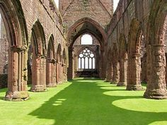 Sweetheart Abbey, Dumfries, Scotland.  A romantic name for an Abbey with a romantic story at it's heart