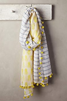 at anthropologie Tropic Stripe Scarf Duppata Style, Handmade Scarves, Striped Scarves, Summer Scarves, Scarf Design, Clutch, Indian Designer Wear, Mellow Yellow, Indian Outfits