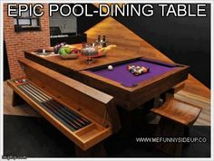 See if my husband can engineer something like this for the pool tables for extra guests? Or the kids!?