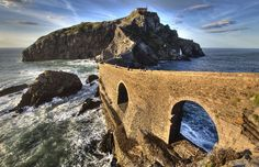 There are many secluded places on earth which have such breathtaking views, but the enchanted island of Gaztelugatxe may just be one of the most beautiful spots ever. Description from elitereaders.com. I searched for this on bing.com/images