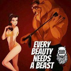 """Every Beast deserves a Beauty ❤ Tag Bae or Beard ~~ Visit BrewingBeards.com Unlock Your Growth Potential ~~ @beardmotivation #BrewingBeards #uygp #beard…"""