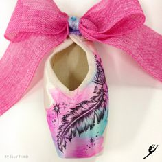 Energetiks Hand Decorated Dream Catcher Pointe Shoe by @ artelf | Energetiks