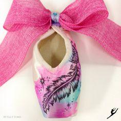 Energetiks Hand Decorated Dream Catcher Pointe Shoe by @ artelf | Energetiks