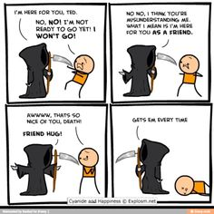 Funny comics cyanide and happiness humor 59 ideas Comics Und Cartoons, Funny Cartoons, Funny Comics, Funny Jokes, Hilarious, Funny Cute, The Funny, Funny Happy, Cyanide And Happiness Comics