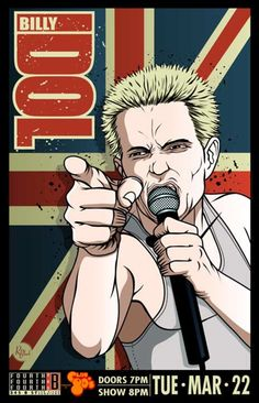 Billy Idol venue poster