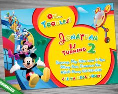 MICKEY Mouse Clubhouse Donald Goofy Invitation by CutePrintable