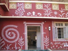 Tribal Art from India-Warli Painting blog post http://irene-turner.com/2014/03/tribal-art-india-warli-painting/