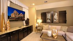 A #cozy #media #room where you can spend evenings enjoying your favorite flicks with family.