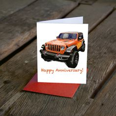 Excited to share this item from my shop: JL Wrangler Jeep Birthday Card. Thank you card. Customize your card! Now available in More colors! Happy Anniversary, Anniversary Cards, Green Jeep, Cards For Boyfriend, Garage Art, Great Paintings, Automotive Art, Custom Cards, Large Wall Art