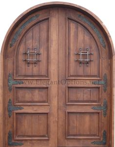 spanish style front door...maybe something similar without the arch?