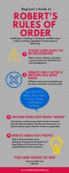 roberts rules, infographic