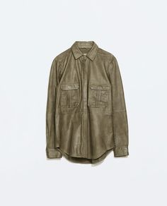 Image 6 of LEATHER MILITARY SHIRT from Zara