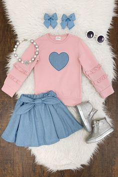 Shop cute kids clothes and accessories at Sparkle In Pink! With our variety of kids dresses, mommy + me clothes, and complete kids outfits, your child is going to love Sparkle In Pink! Little Girl Outfits, Cute Girl Outfits, Kids Outfits Girls, Cute Outfits For Kids, Toddler Girl Outfits, Little Girl Fashion, Cute Kids Fashion, Toddler Fashion, Baby Doll Clothes