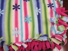We're accepting tied #fleece blankets like this one, too!