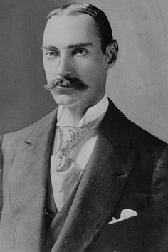 Photograph of Gilded Age, John Jacob Astor, who passed away on the Titanic's sinking.