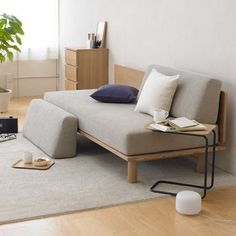 Muji - perfect for home office that doubles as guest room                                                                                                                                                                                 More #diysofa