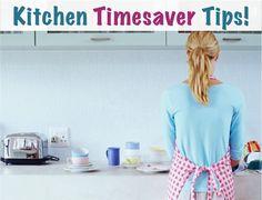 14 Favorite Kitchen Time-Saver Tips! at TheFrugalGirls.com #kitchen #tips