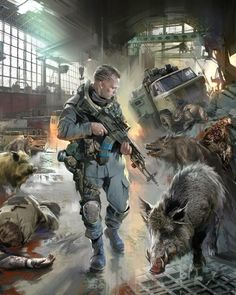 VK is the largest European social network with more than 100 million active users. Apocalypse Landscape, Apocalypse Art, Cthulhu, Post Apocalyptic Books, Game Concept Art, Camping Survival, Modern Warfare, Military Art, Dark Art
