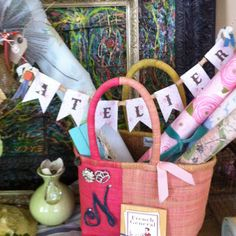 Cute little banner made at Stamp Your Heart Out, Claremont, Ca. Featuring the French General's new product line. Loved it.  Vignette by Maria Dye, dyedesignsbymd@aol.com