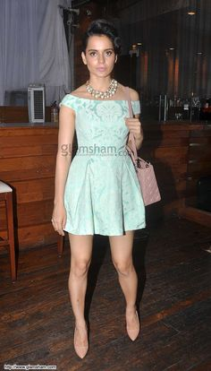 Kangana Ranaut In Short Frock at Bollywood Beauties In Hot Short Frocks picture gallery picture # 29 : glamsham.com