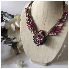 • Pink Medallion Necklace • Any day is the perfect day to make a statement. So why not make one with this piece today?    Made of base metals and crystal.   This necklace normally retails for $68. So you are getting a great discount!  PRICE FIRM Frannyzfinds Jewelry Necklaces