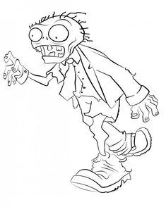 Desenhos para colorir e wallpaper do game Plants and Zombies. Zombie Birthday Parties, Zombie Party, Boy Coloring, Coloring Pages For Kids, Halloween Embroidery, Embroidery Art, P Vs Z, Halloween Coloring Pages, Digi Stamps