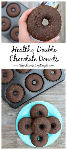 Double Chocolate Donuts that are so rich and delicious you'll have a hard time believing they're healthy, vegan + dairy free!