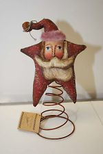 "Debbie Bryan Collection Santa Primitives by Kathy Art Figurine 11"" Tall"