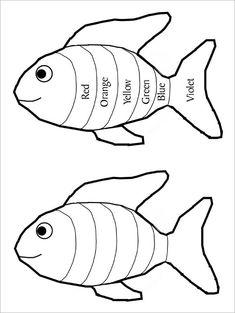 Rainbow Fish Eyfs, Rainbow Fish Template, Rainbow Fish Activities, Rainbow Fish Crafts, Pumpkin Coloring Pages, Fall Coloring Pages, Free Coloring, Templates Printable Free, Printable Worksheets