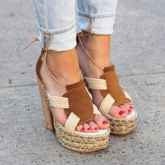 "✨1 DAY SALE✨ $110 Free People  Platform Sandal Give your summer look a boho-chic finish with this lace-up platform sandal shaped from an earthy mix of suede and raffia. A chunky cork heel furthers the style's retro vibe, while a padded footbed offers comfort and support.  5 1/2"" heel; 2"" platform  Leather and raffia upper/leather lining/rubber sole. ▪Footbed measures 9.5 inches from heel to toe.▪ By Free People; made in Spain. Free People Shoes Platforms"