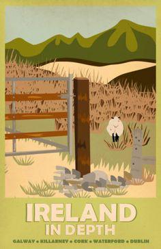 102 Vintage Travel ART Poster Ireland Free Posters | eBay