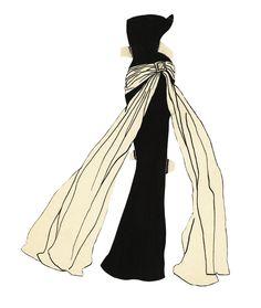 Robe du soir pour Paper Dolls d'Yves Saint Laurent