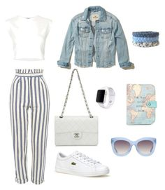 New look for today) by kristinaapaguni on Polyvore featuring polyvore, fashion, style, Puma, Hollister Co., Topshop, Lacoste, Chanel, Apple, Alice + Olivia, Boohoo and clothing