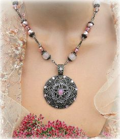 The Victorian Witch  pentacle neclace by MoonwiseCreationz on Etsy, $31.99