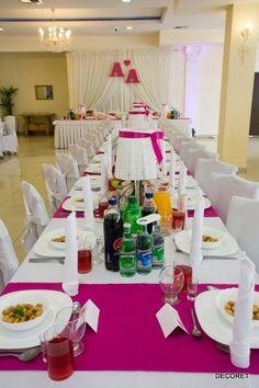 dekoracja sali i stołów